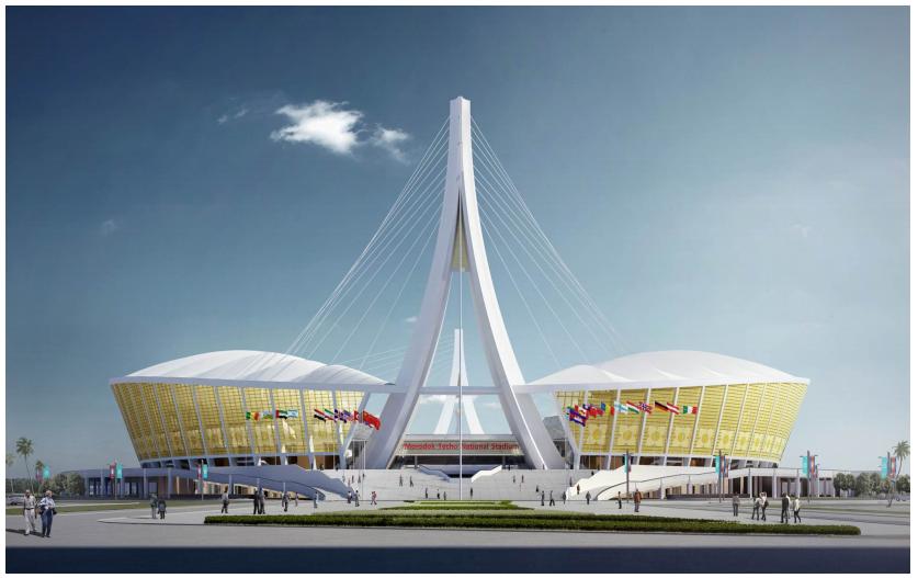China-aid Project of Morodok National Stadium in Cambodia